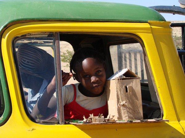 Встреча на дороге. Намибия